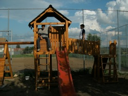 The playground being used