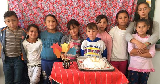 The children at the little village school in Covasna have a special treat!